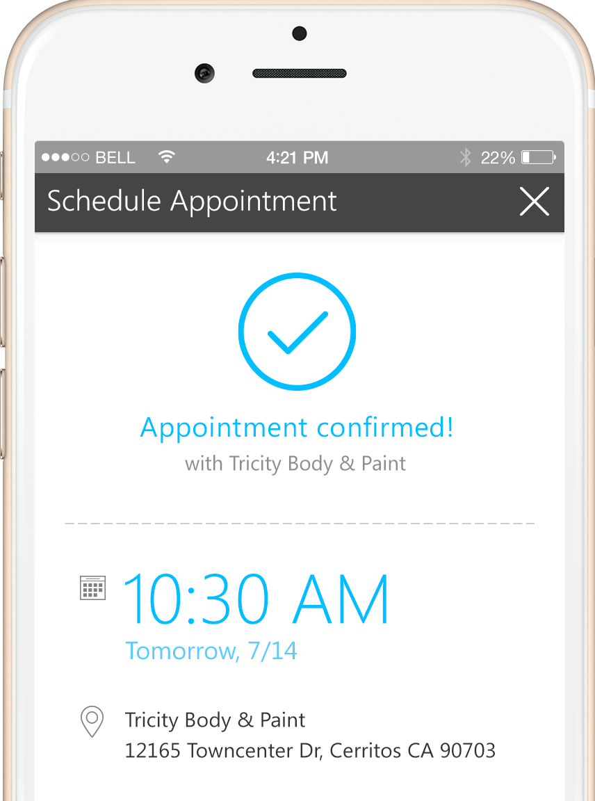 Find a nearby auto body shop and schedule your appointment instantly