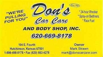 Don S Car Care In Hutchinson Ks 67501 Auto Body Shops