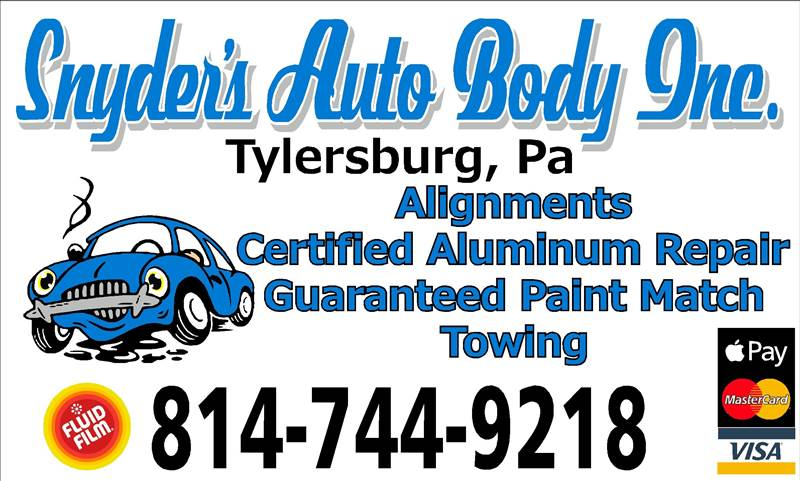 Snyders Auto Body Inc In Tylersburg Pa 16361 Auto
