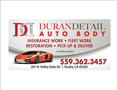 Auto body shop near 93223 farmersville ca carwisecom for Duran detail auto body