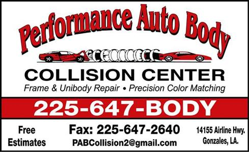 Performance Auto Body >> Performance Autobody East In Gonzales La 70737 Auto Body
