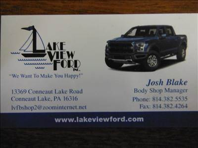 lake view ford in conneaut lake pa 16316 auto body shops. Black Bedroom Furniture Sets. Home Design Ideas