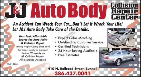 J&J Auto Body Inc in Bunnell, FL, 32110  Auto Body Shops - Carwise.com